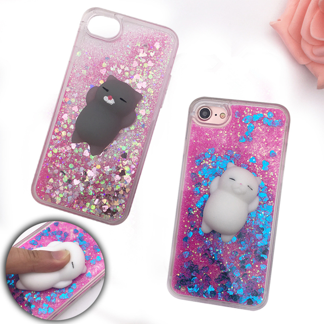 Squishy Cat For Phone Case : Aliexpress.com : Buy Squishy Phone Case for iPhone 5S Case 3D Cartoon Cat Bling Glitter Liquid ...
