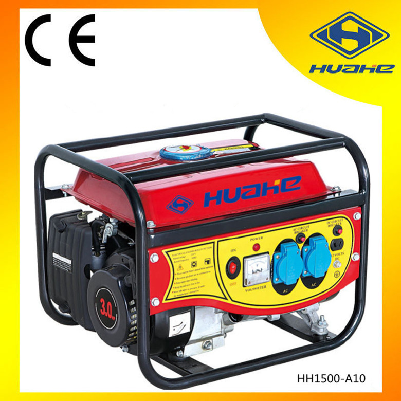 HH1500-A10/1000w small domestic gasoline generator portable outdoor power generation equipment low power consumption image