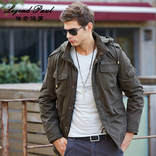 Winter Mens Fashion Jacket Trend Multi Pockets European Style Causual Mens Garments Outwear Male Jeans 3 Colors 4XL