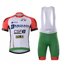 2017 new Pro team BARDIANI CSF cycling jersey summer Bicycle maillot breathable MTB bike clothing Ropa Ciclismo GEL pad(China)