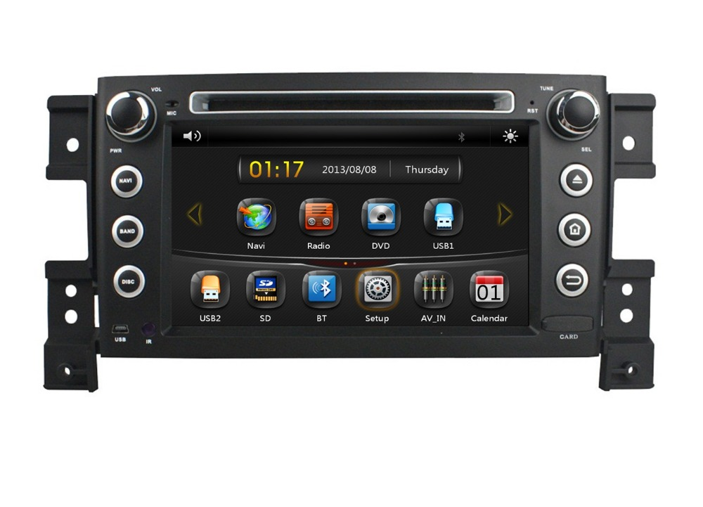 hd 2 din 7 car radio dvd gps navigation for suzuki grand. Black Bedroom Furniture Sets. Home Design Ideas