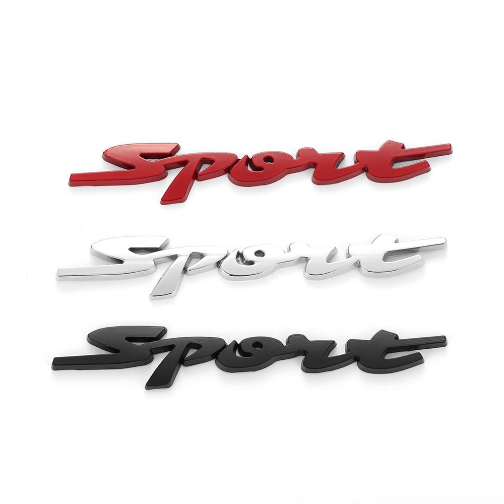 Sport Sticker Chrome Universal 3D Logo Auto Car ABS Stylish Emblem Badge Decal