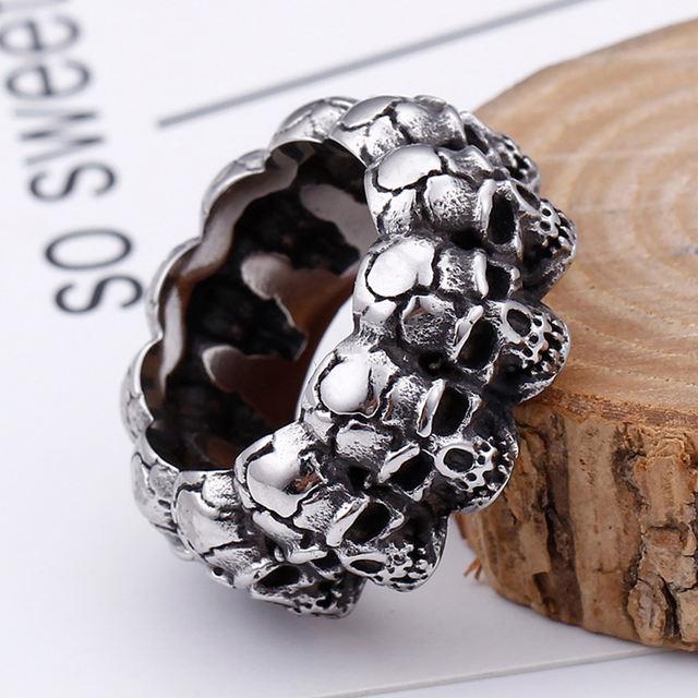 不锈钢骷髅戒指