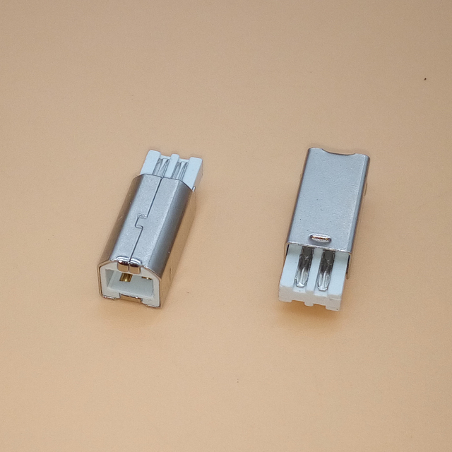 10 Uds DIY USB 2,0 B Tipo 4 Pin macho puerto de impresora montaje adaptador toma de conexión soldadura