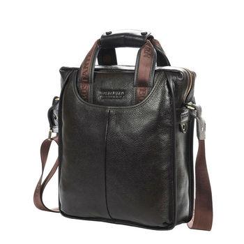 Bostanten 100% Top GENUINE LEATHER Bag Business Messenger Portable Briefcase Laptop Casual Purse