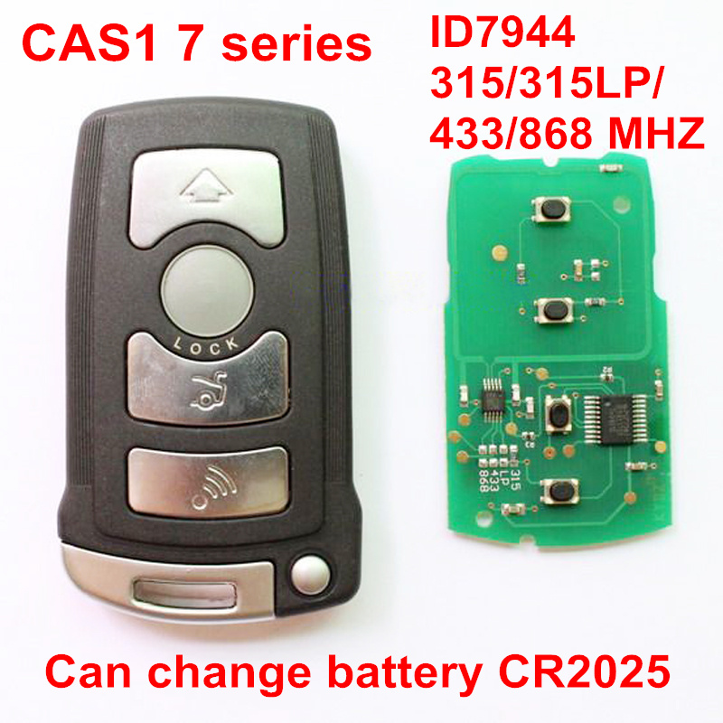 4 Buttons Smart Remote Key Card For BMW 7 Series CAS1 ID7944 Chip 315 315LP 433 868 MHZ