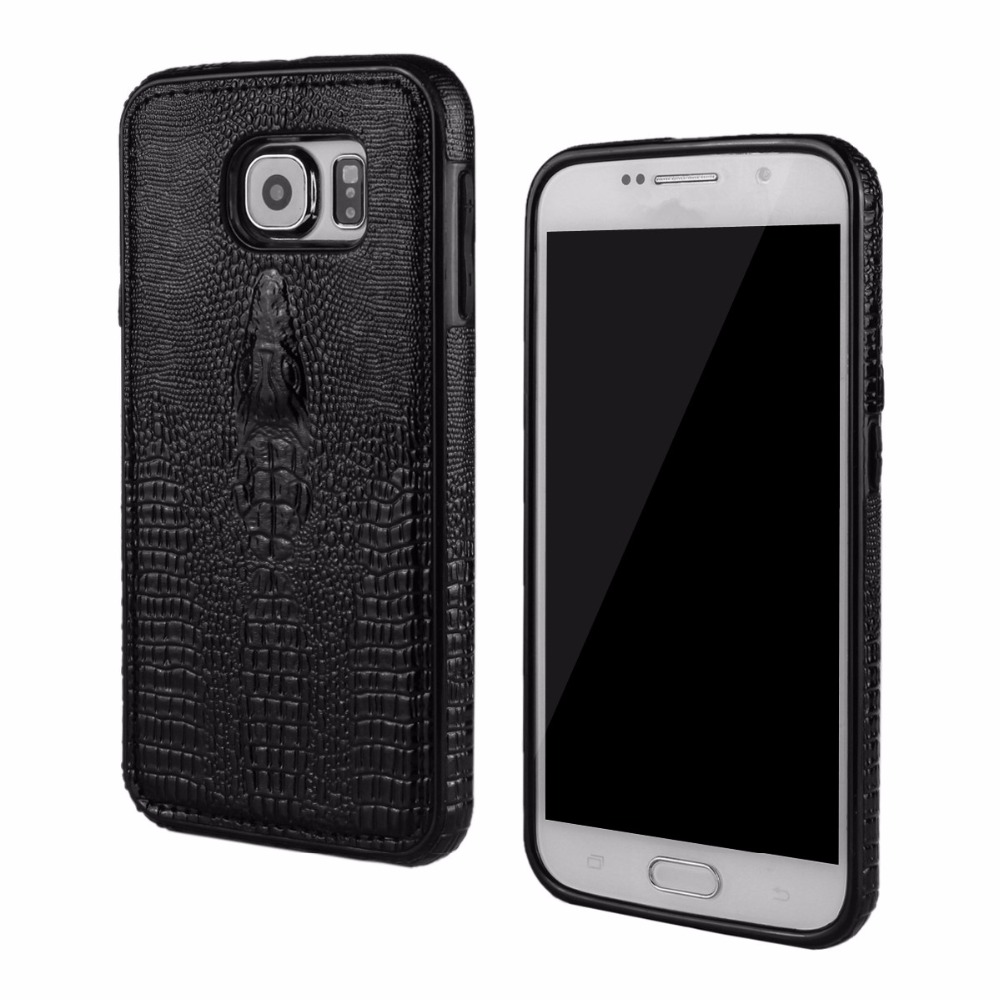 szHAIyu G920 Cover -- 2017 New 3D Crocodile Head Pattern PU Leather Mobile Phone Case For Samsung Galaxy S6 Back Cover Shell