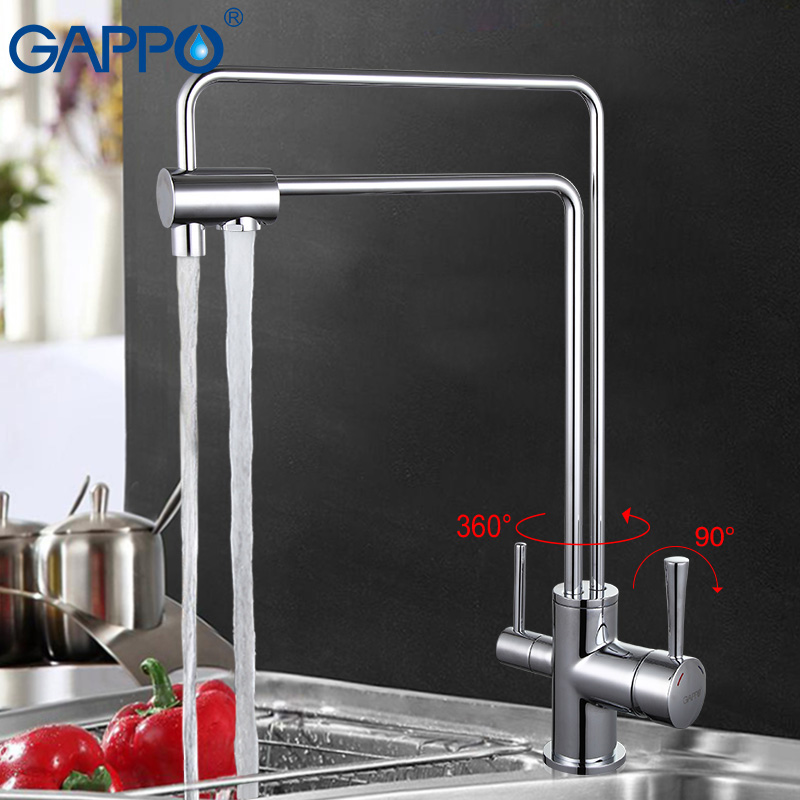 GAPPO 1set water mixer chrome kitchen sink faucet torneira Brass flexible tap drinking cold hot water saver filter taps G4398-5 gappo waterfilter taps kitchen faucet mixer taps water faucet kitchen sink mixer bronze water tap sink torneira cozinha ga1052 8