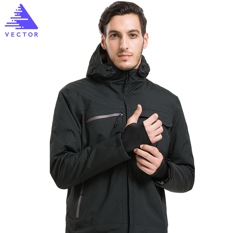 VECTOR Winter Outdoor Jacket Men Cotton Thermal Waterproof Jacket Male Warm Camping Hiking Snow Skiing Snowboarding