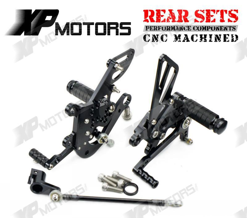 Racing Adjustable Rearset Rear Sets Foot pegs For Aprilia RSV4 R 2009 2010 2011 2012 201 ...