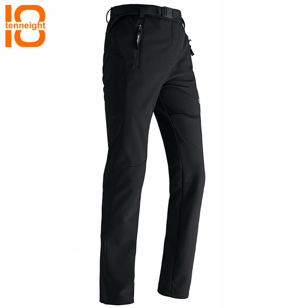 TENNEIGHT Men's Sports Softshell Pants warm Winter Skiing Trousers Outdoor Skiing Snowboard Pants Fishing Camping Skating Pants high quality winter men warm softshell pants skiing snowboard outdoor sport hiking trousers grey camping climbing breath snow