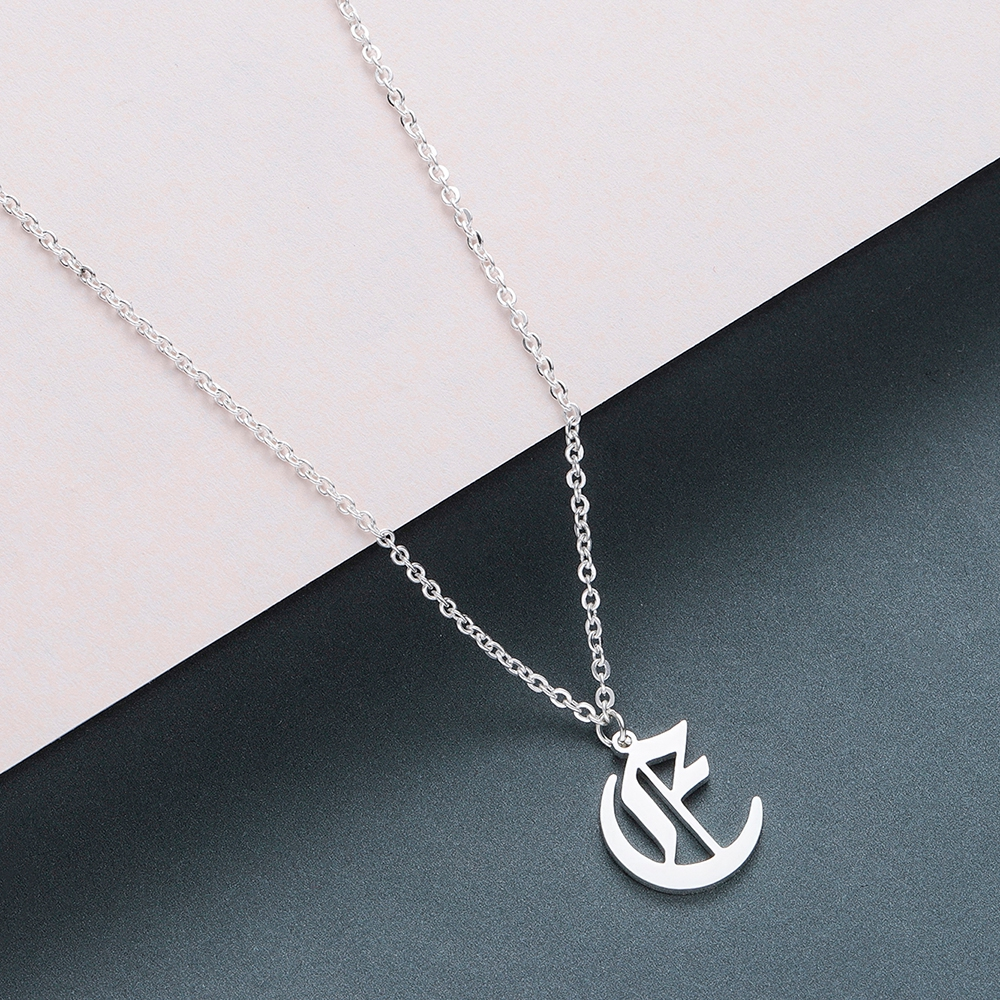 Todorova Old English Custom Capital Initial A-Z Letter Pendant Necklace Men Vintage Font Personalized Necklace Women Jewelry 15
