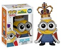 "FUNKO POP Despicable Me Minion King BOB #168 PVC Action Figure Collection Toy Doll 4"" 10CM"