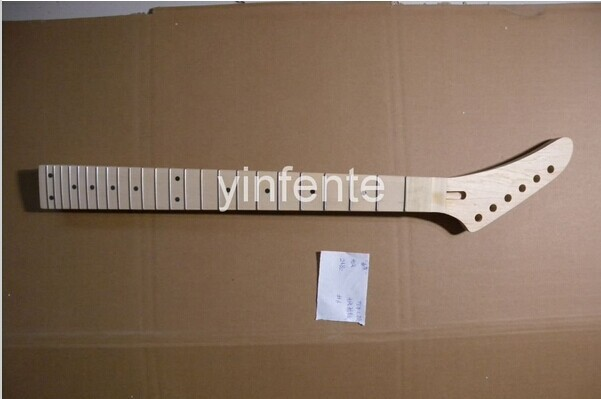 New Unfinished electric guitar neck Guitar Parts Left hand Maple wood fretboard  1pcs #2 two way regulating lever acoustic classical electric guitar neck truss rod adjustment core guitar parts
