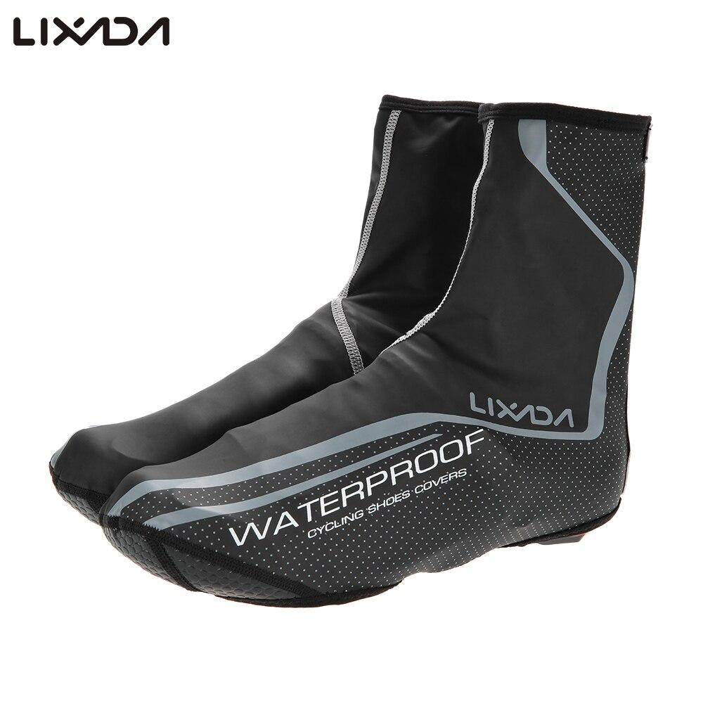 Lixada Outdoor Sport Shoe Cover Thermal MTB Mountain Bike Waterproof Windproof Overshoes Protector Cycling Bicycle Shoe Covers