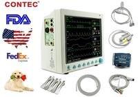 2016 NEW CMS8000 VET Vital Signs Veterinary patient monitor 6 arameters CE CONTEC