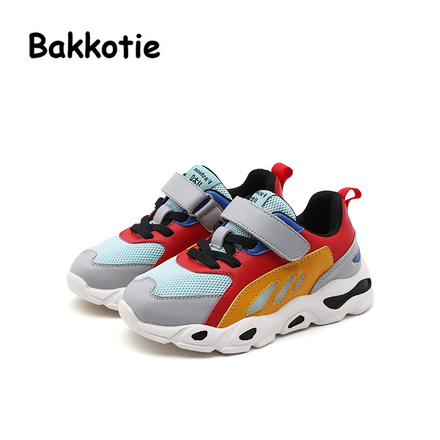 Bakkotie 2018 New Spring Fashion Baby Girl Sport LED Shoes Kid Red Shoe  Children Mesh Casual Glowing Sneakers Boy Brand Trainer 1a52c875590b