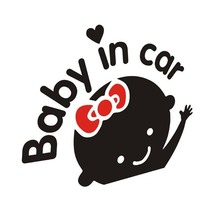 hot deal buy 15*14cm baby on board car sticker motorcycle decal waterproof safe car accessories lovely colorful warning mark car covers