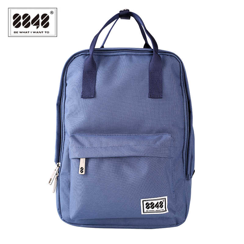 School Women's Backpack Soft Back 8848 Brand Shoulder Bag Girl's Backpacks Solid Preppy Style Laptop Interior Fashion 003-008-01