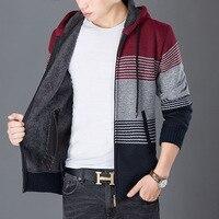 Male Sweater New Autumn Winter Thicken Warm Fleece Sweaters Men Zipper Design Long Sleeved hombre Cardigan Sweater Men Coat