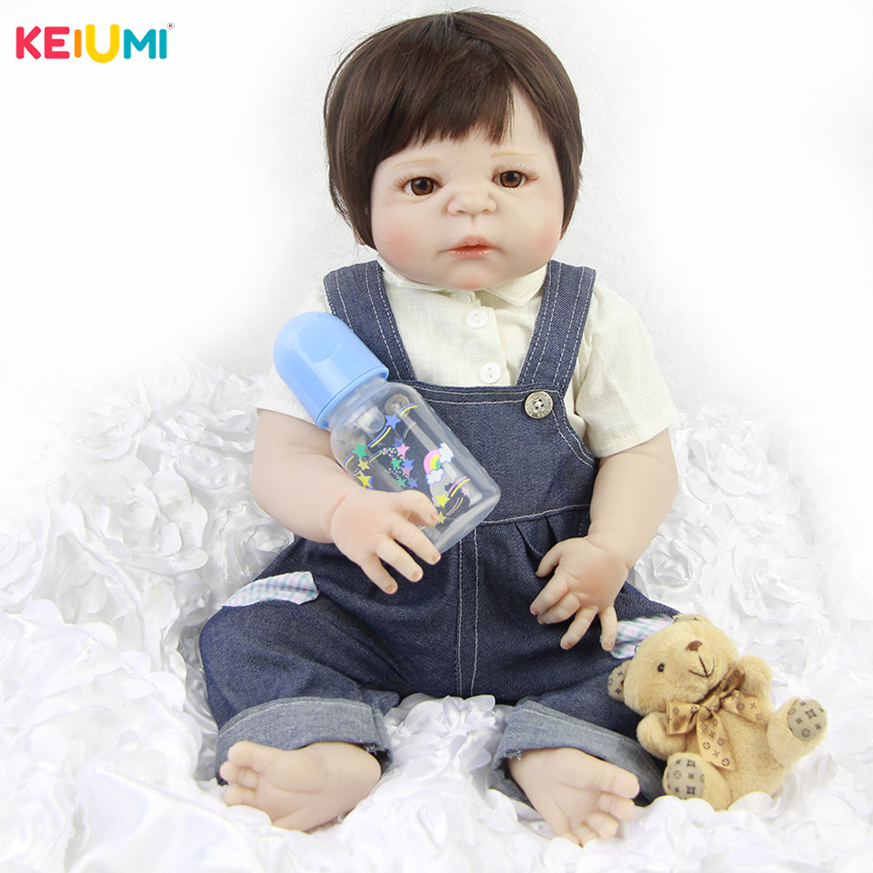Elegant Style 23 57 cm Reborn Baby Boy Full Silicone Body Reborn Dolls Lifelike Kids Playmates Baby Toys Kids Birthday GiftsElegant Style 23 57 cm Reborn Baby Boy Full Silicone Body Reborn Dolls Lifelike Kids Playmates Baby Toys Kids Birthday Gifts