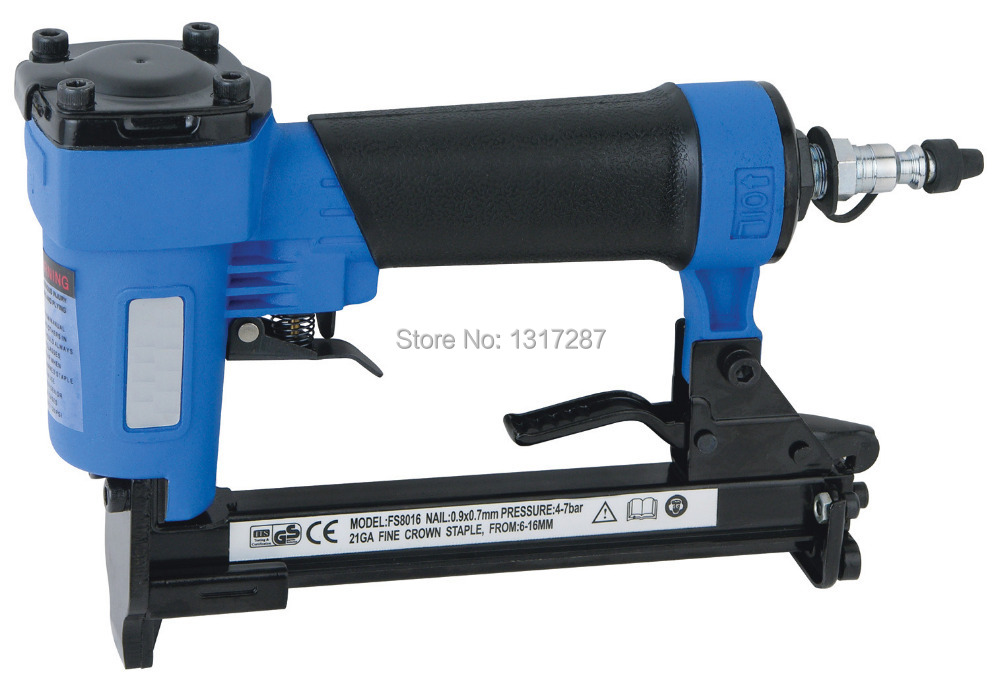 air stapler FS8016-A pneumatic fine crown stapler, U style nail, length of nail:6-16mm 4-7BAR 60-110psi велосипед challenger mission lux fs 26 черно красный 16