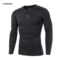Men Long Sleeve Fitness Basketball Running Sports T Shirt Men Thermal Muscle Gym Bodybuilding Compression Tights