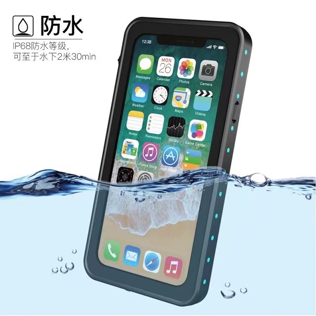 big sale 0e7d1 bcea0 US $12.79 20% OFF|For iphone X /10 Waterproof case Redpepper Dot series  heavy duty cover Water/Dirt/Diving Underwater PC TPU Armor clear fundas-in  ...