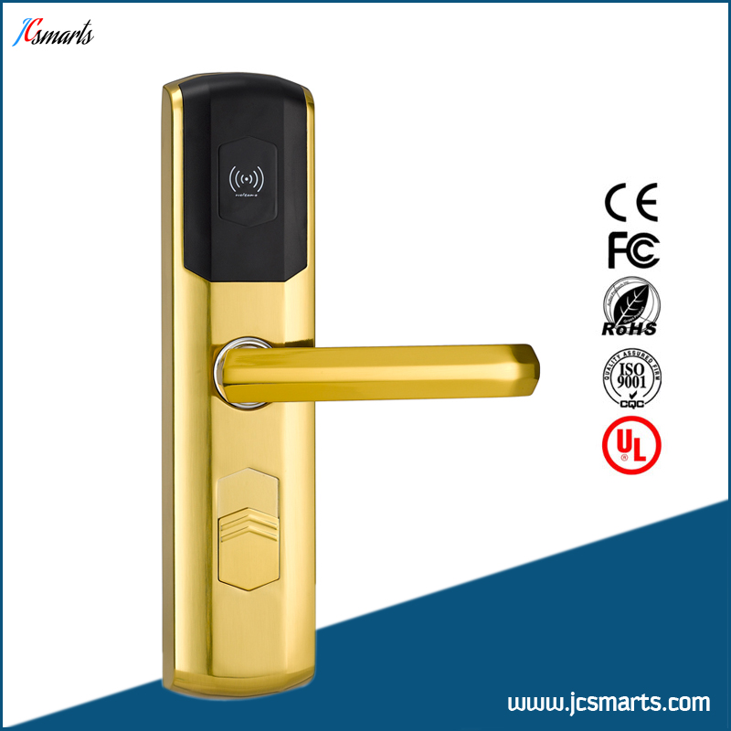 Zinc alloy hotel style door security lock interior door locks hotel lock system rfid t5577 hotel lock gold silver zinc alloy forging material sn ca 8037