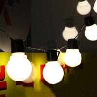 Nouveauté 5 CM Grosse Boule Guirlande LED Lumière De Noël 2.5 M 5 M 10 M Fée Cordes Garland Lumières Étoilées parti De Mariage Éclairage Extérieur