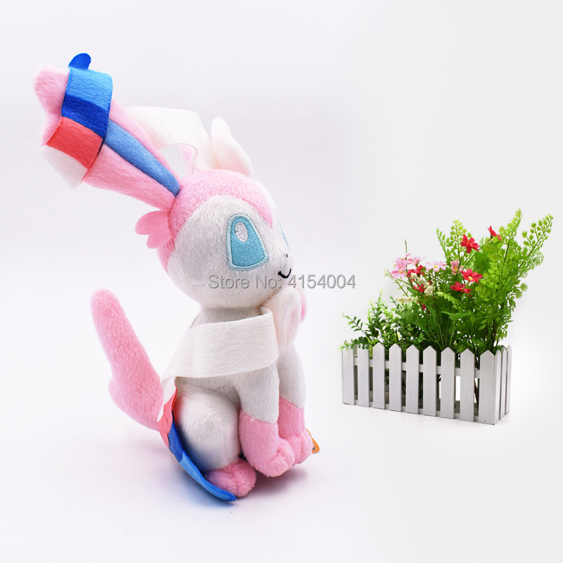 10 pcs lot Anime Doll Sitting Sylveon Japanese Animal Stuffed Plush Quality Cartoon Toys 20 cm