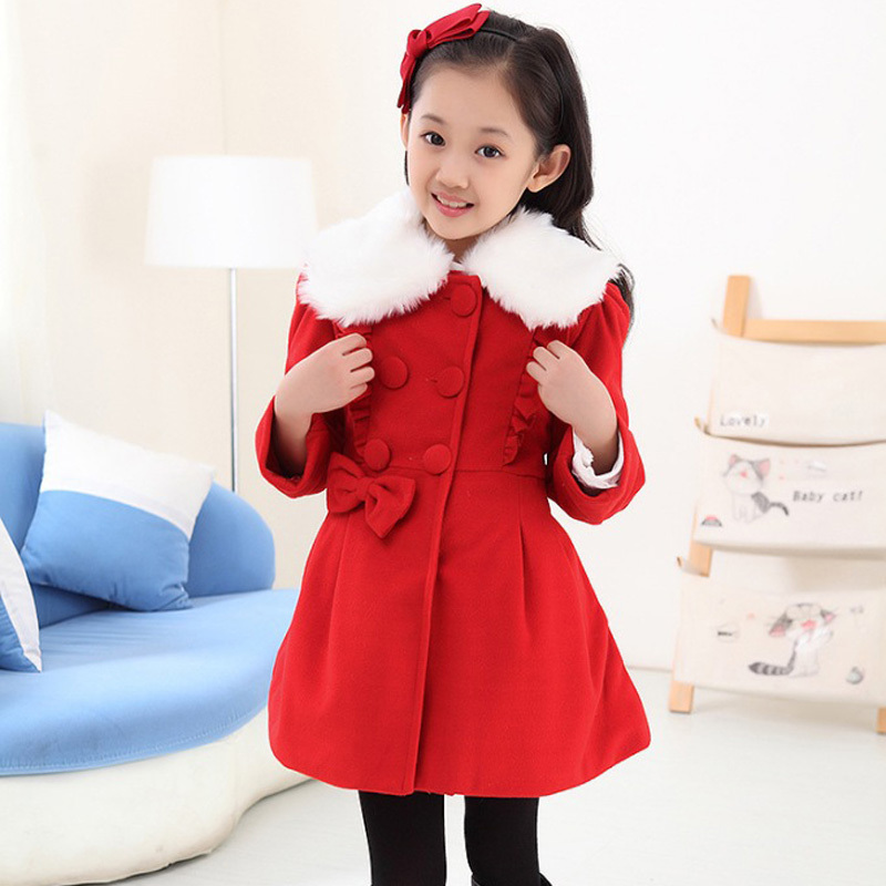 Thick Winter Wool Coat Girl Plus Size Long Trench Coats Girls ...