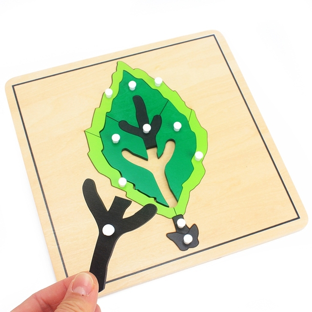 Baby Montessori Materials Wooden Puzzles Educational Toys Plant Growth Panel Wood Toy Learning Tangram/Jigsaw Toddlers Preschool 5