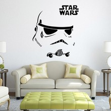 New Fashion Star Wars robot Wall Sticker Quote R2 D2 Decal Vinyl Home Decor Kids Geek Gamer Removable Mural Bedroom wallpaper
