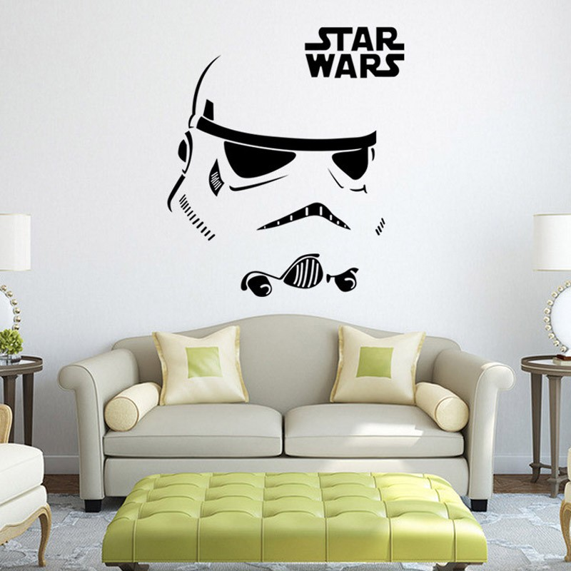 New Fashion Star Wars robot Wall Sticker Quote R2 D2 Decal Vinyl Home Decor Kids Geek Gamer Removable Mural Bedroom wallpaper ...