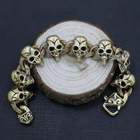 Titanium steel skull rough bracelet Punk vintage dragon ribbon badminton men's skull bracelet