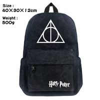Harri Potter Canvas black Backpack College Student School Backpack Bags for Teenagers Mochila Casual Rucksack Travel Daypack Men