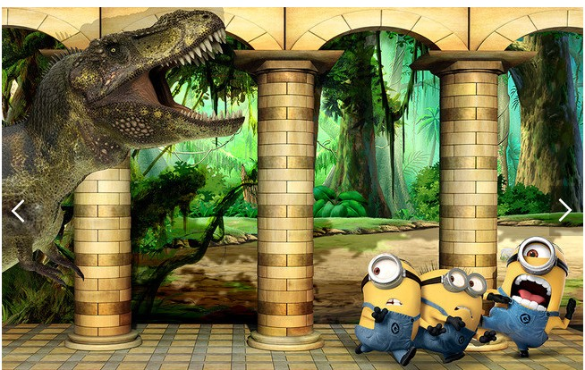 Online buy wholesale minion wallpaper from china minion for Colocar papel mural