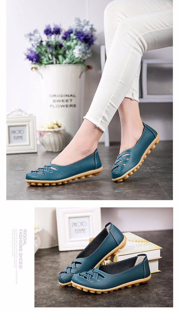 Hot Sale 2016 Spring New PU Leather Woman Flats Moccasins Comfortable Woman Shoes Cut-outs Leisure Flat Woman Casual Shoes ST181 (32)