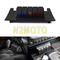 5 Rocker Switches ON OFF Lower Dash Switch Panel Pod Kit for Jeep Wrangler JK 2011 2017