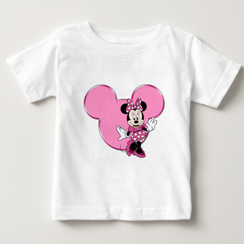 Girls Lovely Minnie mouse Cartoon T shirt kids summer Short Sleeves t shirt baby 100%cotton T-shirt boy O-Neck tee shirts Mickey