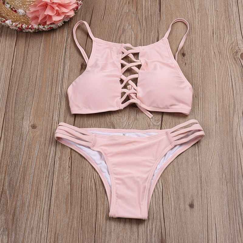 2019 Sexy Hot Koop vrouwen push-up Set Hollow Out Bandage Bikini beha badmode badpak badpak beachwear Zwemmen Bikini Kostuum