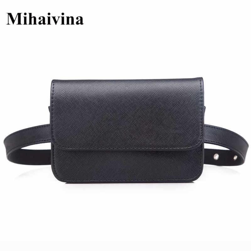 Mihaivina, Женская винтажная сумка на пояс из искусственной кожи, роскошная модная поясная сумка, маленькая сумочка для монет, женская сумочка на ремне