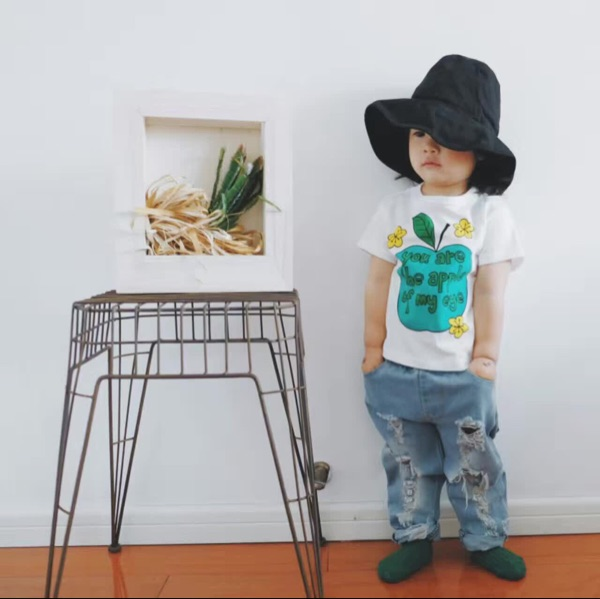 2017-New-Summer-Kid-Clothes-Pattern-Apple-Cherry-Tops-t-Baby-Girl-Tshirt-Boys-T-Shirts