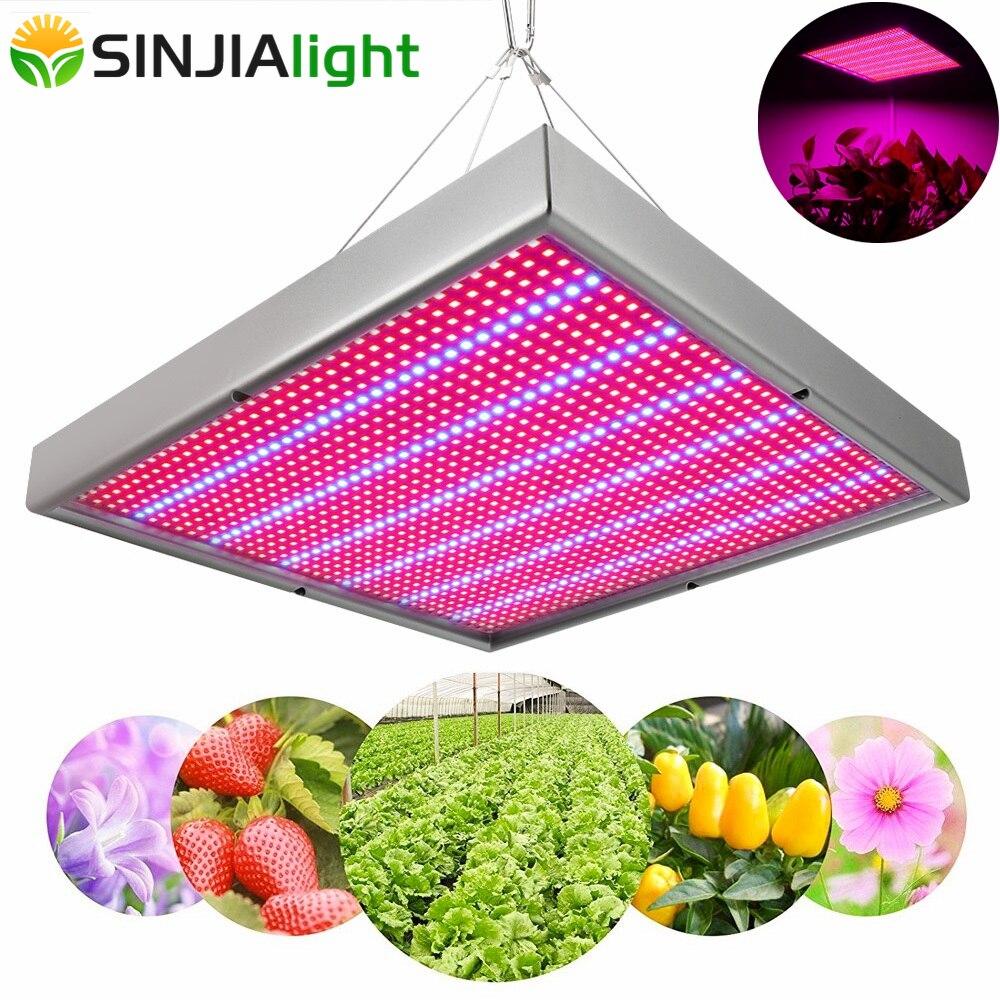 120 W LED panneau de croissance plante lumière spectre complet Phyto lampe 1365 LED s rouge + bleu hydroponique LED éclairage pour fleurs jardin pousser tente