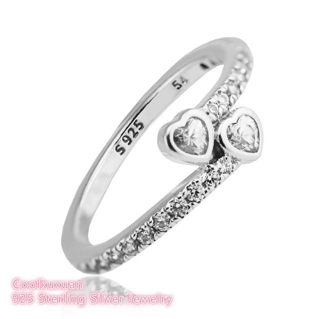 2018 Valentinstag Ring Frauen 100% 925 Sterling Silber Klar CZ Für Immer  Herzen Ringe Für 6b84dab005