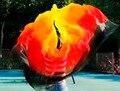 Дизайн 100% натурального шелка танец живота вуаль, вуаль дешевые завесы танца, тари perut kostum завесу оптовая 250*114 см Черный + красный + orange + Желтый