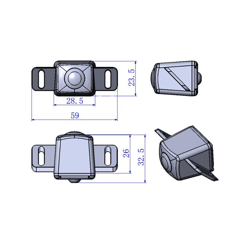 59*23.5*32.5mm Klik Om Voor Toyota Crown Camry Corolla Prius Auto Achteruitkijkspiegel Backup Reverse Parking Camera 100% Echte Hd Ccd Modern En Elegant In Mode