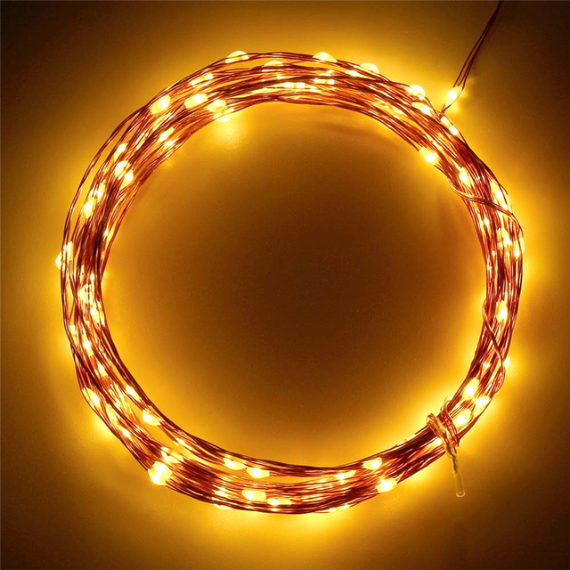 Warm White 120 LED Fairy Starry Copper Wire Lights Outdoor Solar Powered White String Lights for Christmas Holiday Decorations