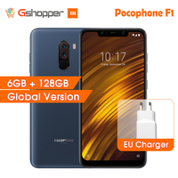 Xiaomi POCOPHONE F1 6GB 128GB Snapdragon 845 6.18 Full Screen 20MP Front Camera LiquidCool POCO F1 Smartphone